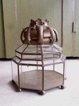 1900'S 1910'S 1920'S アンティーク ビクトリアン アクセサリーケース ディスプレーケース 真鍮フレーム 8角形 ビンテージ
