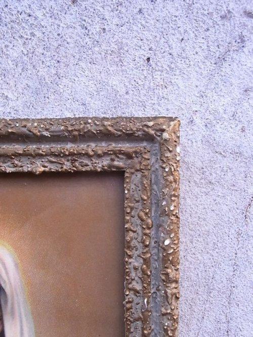 other photographs.1: 聖母マリア ガラス入りフレーム ウォールオーナメント アンティーク ビンテージ
