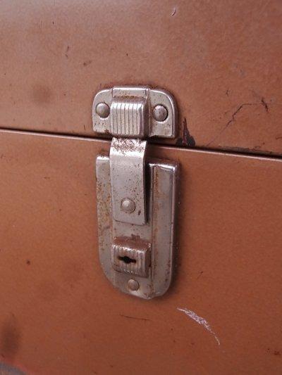 画像5: メタルティンボックス ファイルストレージ 持ち手付き ブラウン インダストリアル アンティーク ビンテージ