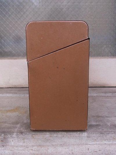 画像4: メタルティンボックス ファイルストレージ 持ち手付き ブラウン インダストリアル アンティーク ビンテージ