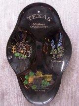 1950'S 絵皿 小物入れ TEXAS spoon rest プラスティック ウォールオーナメント 壁掛け アンティーク ビンテージ