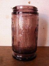 ガラスボトル 瓶 パープル WHEATON N.J. アンティーク ビンテージ