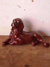 オブジェ 犬 アイリッシュ・セッター ラブラドール レトリバー 陶器 アンティーク ビンテージ