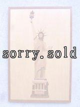 自由の女神 N.Y ニューヨーク The State of Liberty ウッド 壁掛け ウォールオーナメント folkart フォークアート アンティーク ビンテージ