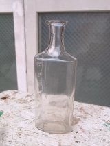 メディスンボトル 19世紀 瓶 クリアガラス アンティーク ビンテージ