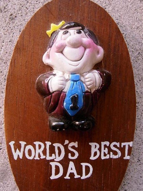 other photographs.2: メッセージドール 人形 壁掛け world's best dad ウォールデコ ウォールオーナメント アンティーク ビンテージ