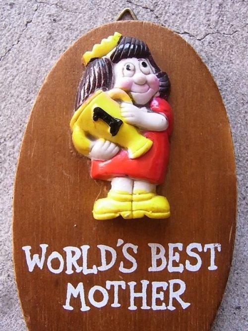 other photographs.3: メッセージドール 人形 壁掛け world's best mother ウォールデコ ウォールオーナメント アンティーク ビンテージ