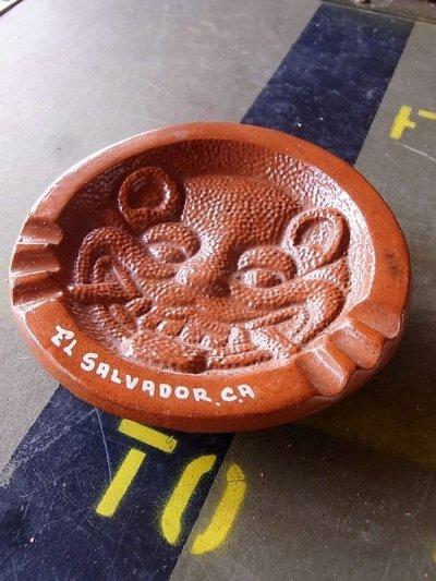 画像1: コスタリカ 灰皿 アッシュトレイ アニマル EL SALVADOR CA 陶器 アンティーク ビンテージ
