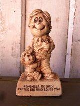 70'S メッセージドール 人形 REMEMBER ME DAD? 木製 アンティーク ビンテージ