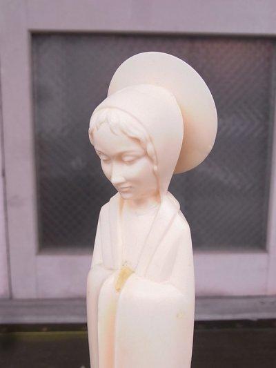 画像5: 聖母マリア オブジェ プラスティック ウッド アンティーク ビンテージ