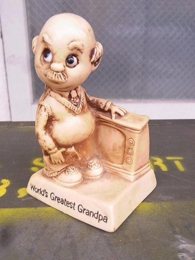 画像1: 70'S メッセージドール 人形 World's Greatest Grandpa 敬老の日 アンティーク ビンテージ