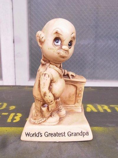 画像2: 70'S メッセージドール 人形 World's Greatest Grandpa 敬老の日 アンティーク ビンテージ