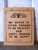 MY HOUSE IS CLEAN ENOUGH... ウォールオーナメント 壁掛け アンティーク ビンテージ