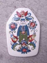 スカンジナビアン 北欧 ノルウェー SACA 陶器 壁掛け カッティングボード アンティーク ビンテージ