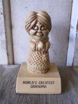 70'S メッセージドール 人形 World's Greatest Grandma アンティーク ビンテージ