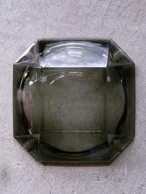 other photographs.3: 1970'S 灰皿 アッシュトレイ ガラス 色付きガラス グレー 8角形 アンティーク ビンテージ