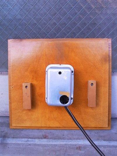 画像2: 1960'S ウォールクロック クラフトクロック ミッドセンチュリーモダン 壁掛け時計 ウッド 四角 アンティーク ビンテージ