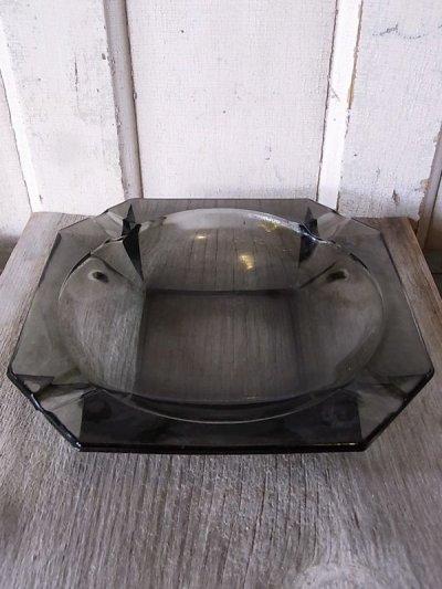 画像1: 1970'S 灰皿 アッシュトレイ ガラス 色付きガラス グレー 8角形 アンティーク ビンテージ