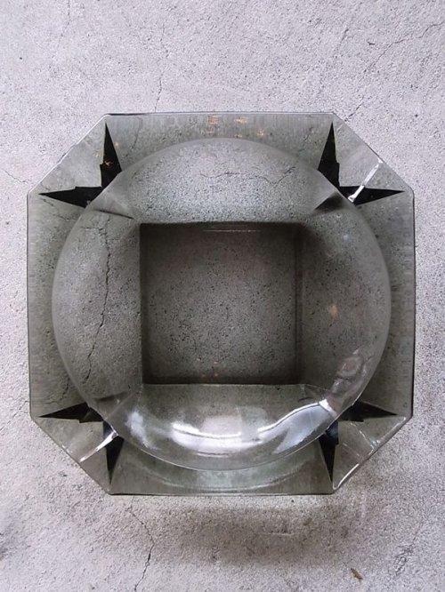 other photographs.2: 1970'S 灰皿 アッシュトレイ ガラス 色付きガラス グレー 8角形 アンティーク ビンテージ