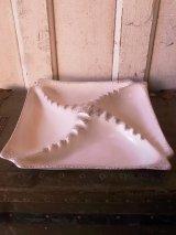 50'S フィフティーズ 灰皿 アッシュトレイ ホワイト 大型 陶器 アンティーク ビンテージ