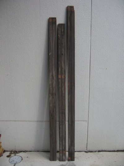 画像2: ビードボード old フロアー材 壁材 床材 廃材 Bead-Board ブラック シャビー アンティーク ビンテージ