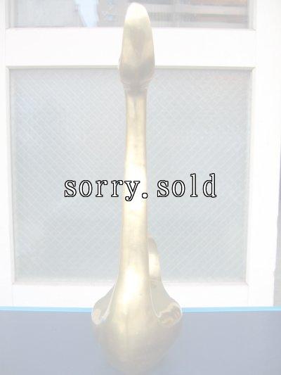 画像2: 真鍮オブジェ スワン 白鳥 特大 ブラス アンティーク ビンテージ