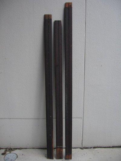 画像1: ビードボード old フロアー材 壁材 床材 廃材 Bead-Board ブラック シャビー アンティーク ビンテージ