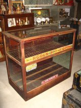 1910'S 1920'S カウンターショーケース 木枠ガラスショーケース タバコ 展示ケース ディスプレーケース R・G・DUN KING EDWARD LA FENDRICH シガー tabaco cigar アンティーク ビンテージ