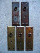 ドアノブプレート 座 ベースプレート スチール 真鍮 真鍮メッキ アンティーク ビンテージ