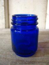 ガラスボトル 薬瓶 ブルーボトル VICKS VAPORUB アンティーク ビンテージ