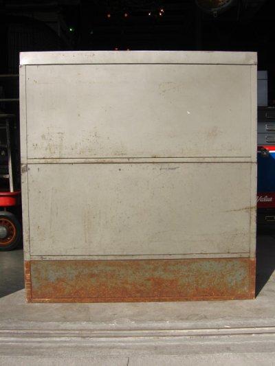画像5: 1940'S 1950'S industrial ディスプレイケース ショーケース アイアン メタル ブックシェルフ メタルドロワー グレー 2段 SHAW WALKER アンティーク ビンテージ