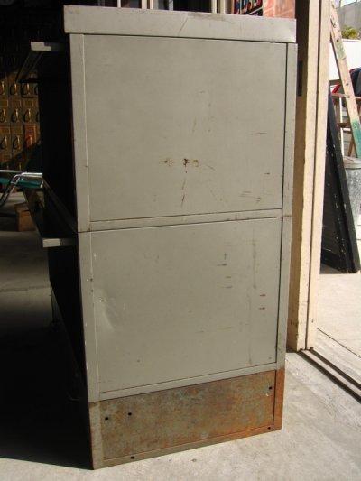 画像4: 1940'S 1950'S industrial ディスプレイケース ショーケース アイアン メタル ブックシェルフ メタルドロワー グレー 2段 SHAW WALKER アンティーク ビンテージ