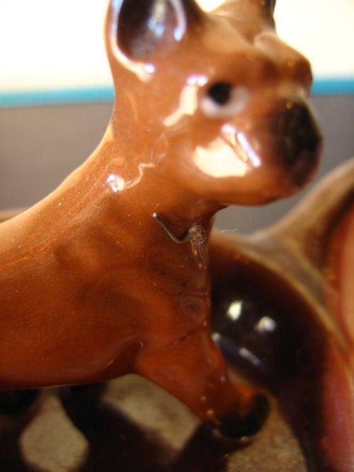 other photographs.3: 1950年代 灰皿 アッシュトレイ 犬 ドッグ Dog 親子 Brinn's 日本製 アンティーク ビンテージ
