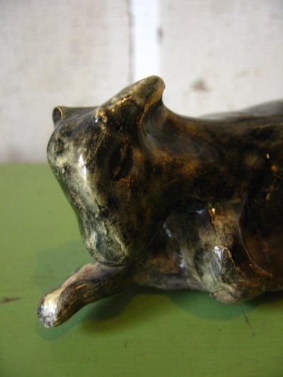 画像5: オブジェ 牛 カウ folkart モダンアート mid century modern 陶器 アンティーク ビンテージ