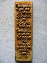 c1928 A.E.MITCHELL ART Co. Metal Wall Plaque メッセージアート アルミ合金 壁掛け ウォールオーナメント アンティーク ビンテージ