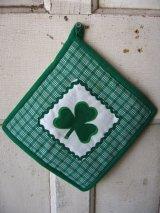 鍋敷き 鍋つかみ アイリッシュ Irish クローバー アンティーク ビンテージ