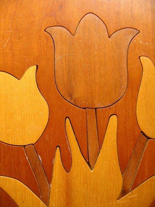 other photographs.3: チューリップ folkart フォークアート モダンアート ウッド 壁掛け ウォールオーナメント アンティーク ビンテージ