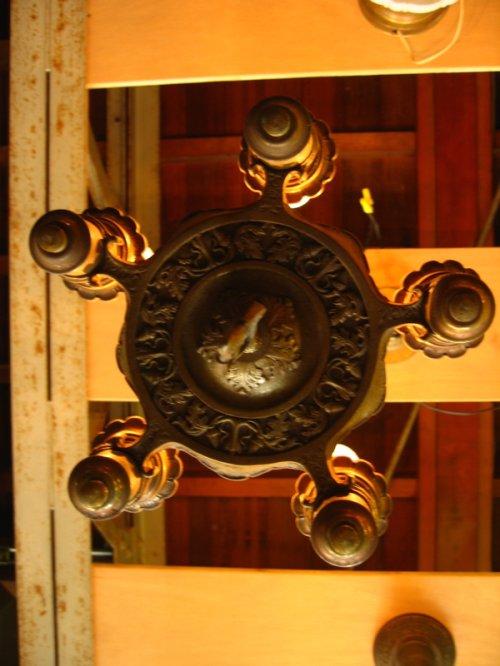 other photographs.1: ビクトリアン シーリングライト 5灯 ナロー シャンデリア 装飾 チャーム付き アイアン 真鍮 アンティーク ビンテージ