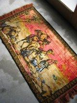 ラグ アートラグ カーペット 商人 ラクダ アラビアン エジプト フリンジ ウォールオーナメント 壁掛け アンティーク ビンテージ