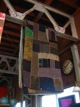 アンティーク   1850's ~ 1900's 古布    襤褸    Boro   ブランケット ラグマット パッチワーク ビンテージ