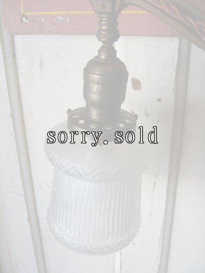 画像3: ビクトリアン フロアランプ 1灯 フロストガラスシェード ブリッジランプ アイアン アンティーク ビンテージ