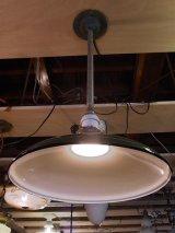 アンティーク インダストリアルシーリングライト ホーローメタルシェード 琺瑯 ペンダントランプ 1灯 グリーン ビンテージ