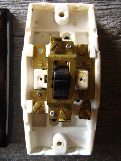 画像4: 1930'S アメリカ製 BRYANT ブライアント サーフェイススイッチ レバースイッチ タンブラースイッチ ベークライト ポーセリン BAKELITE 箱付 NOS デッドストック アンティーク ビンテージ