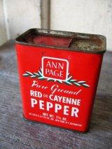 ティン缶 ANN PAGE RED or CAYENNE PEPPER ペッパー アド その2 アンティーク ビンテージ