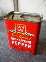 ティン缶 ANN PAGE RED or CAYENNE PEPPER ペッパー アド アンティーク ビンテージ