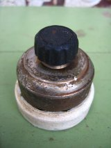 1910'S 20'S アメリカ製 サーフェイススイッチ ロータリースイッチ ターンスイッチ 真鍮 ポーセリン PERKINS アンティーク ビンテージ