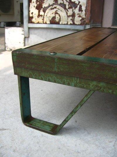 画像5: 1930'S 40'S ファクトリーカート トロリーテーブル パレット ハードウッド コーヒーテーブル ショップ什器 アイアン インダストリアル アンティーク ビンテージ
