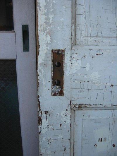 画像4: 木製ドア ホワイト ひび割れ塗装 シャビー スパイダー アンティーク ビンテージ