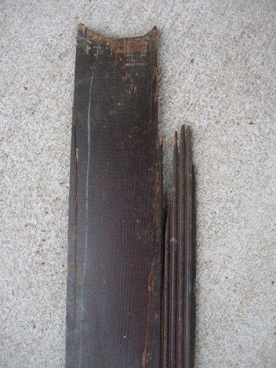 画像5: 天井 床 見切り モールディング トランザム 壁材 床材 廃材 ブラウン シャビー アンティーク ビンテージ