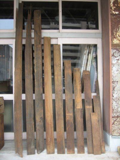 画像2: 天井 床 見切り モールディング トランザム 壁材 床材 廃材 ブラウン シャビー アンティーク ビンテージ